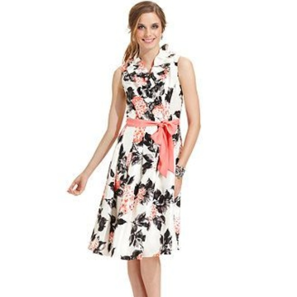 e3a498f43777 Jessica Howard Dresses | Petite Ruffleneck Dress 10p | Poshmark